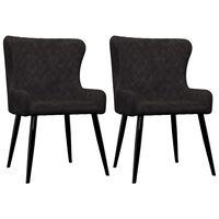 vidaXL Krzesła do jadalni, 2 szt., czarne, aksamit