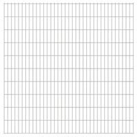 vidaXL Panele ogrodzeniowe 2D, 2,008 x 2,03 m, 20 m, srebrne