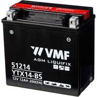 VMF Powersport Akumulator Liquifix 12 V 12 Ah MF YTX14-BS