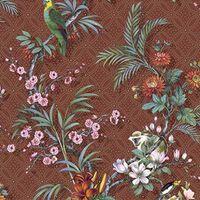 DUTCH WALLCOVERINGS Tapeta Tropical, czerwonobrązowa
