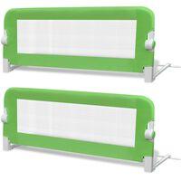 vidaXL Barierki do łóżeczka dziecięcego, 2 szt., zielone, 102x42 cm