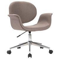 vidaXL Obrotowe krzesło biurowe, taupe, tapicerowane tkaniną