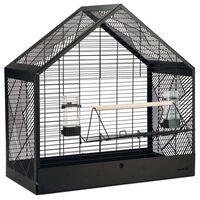 Beeztees Klatka dla ptaków Yara, czarna, 71x35x70 cm, metalowa