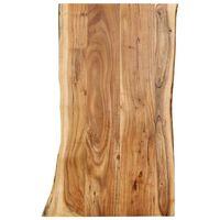 vidaXL Blat, lite drewno akacjowe, 100x(50-60)x2,5 cm