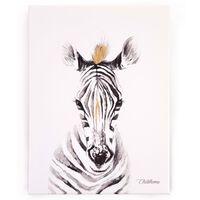 CHILDHOME Obraz olejny, 30x40 cm, zebra