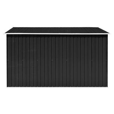 vidaXL Szopa ogrodowa, 257 x 298 x 178 cm, metal, antracytowa