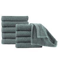 vidaXL Ręczniki hotelowe 10 szt., bawełna, 450 g/m², 30x50 cm, zielone