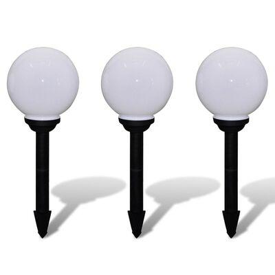 vidaXL Zewnętrzne lampy solarne LED w kształcie kuli, 20 cm, 3 szt.
