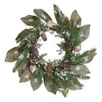 Wianek Świąteczny ⌀ 60 Cm Zielony Tieva
