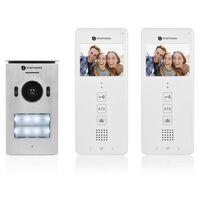 Smartwares Wideodomofon do 2 mieszkań, 20,5x8,6x2,1 cm, biały