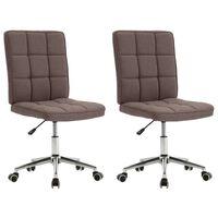 vidaXL Krzesła stołowe, 2 szt., kolor taupe, tapicerowane tkaniną