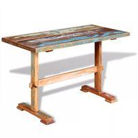 vidaXL Stół do jadalni z litego drewna odzyskanego, 120x58x78 cm
