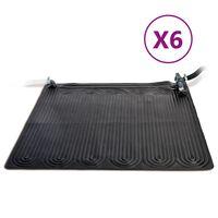 Intex Solarne maty grzewcze, 6 szt., PVC, 1,2x1,2 m, czarne