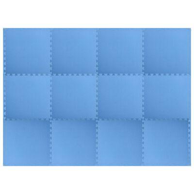 vidaXL Maty podłogowe, 12 szt., 4,32 ㎡, pianka EVA, niebieskie