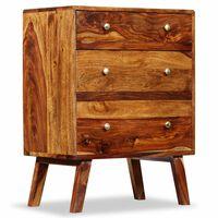 vidaXL Szafka boczna, lite drewno sheesham, 60 x 35 x 76 cm