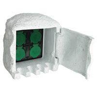 vidaXL Przedłużacz ogrodowy 4-gniazdkowy, wodoodporny, biały