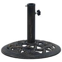 vidaXL Podstawa pod parasol, czarny i brąz, 9 kg, 40 cm, żeliwo