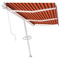 vidaXL Automatycznie zwijana markiza, LED i czujnik wiatru, 600x300 cm