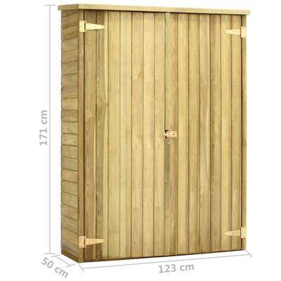 vidaXL Szopa na narzędzia, 123x50x171 cm, impregnowane drewno sosnowe