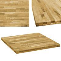 vidaXL Kwadratowy blat do stolika z drewna dębowego, 44 mm, 70 x 70 cm