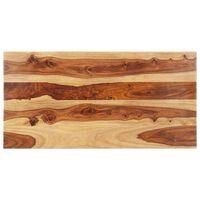 vidaXL Blat stołu, lite drewno sheesham, 25-27 mm, 60x120 cm