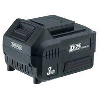 Draper Tools Akumulator litowo-jonowy D20, 3Ah, 20V