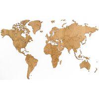 MiMi Innovations Drewniana mapa świata Exclusive, dąb, 130x78 cm