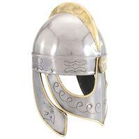 vidaXL Replika zabytkowego hełmu Beowulfa, LARP, srebrna stal