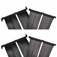 vidaXL Panele solarne do podgrzewania basenu, 4 szt., 80x620 cm