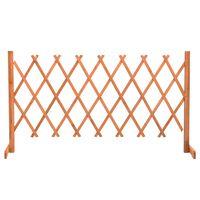 vidaXL Ogrodowy płot kratkowy, pomarańczowy, 150x80 cm, drewno jodłowe