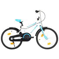 vidaXL Rower dla dzieci, 18 cali, niebiesko-biały