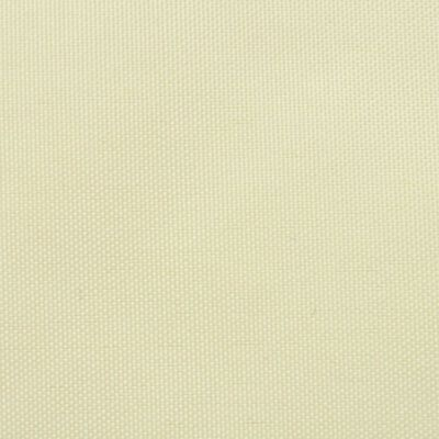 vidaXL Prostokątny żagiel ogrodowy z tkaniny oxford, 4x6 m, kremowy