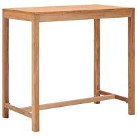 vidaXL Stolik barowy do ogrodu, 110x65x105 cm, lite drewno tekowe