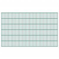 vidaXL Panele ogrodzeniowe 2D, 2,008 x 1,23 m, 18 m, zielone
