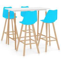 vidaXL 5-częściowy zestaw mebli barowych, niebieski