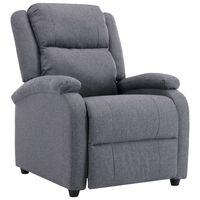 vidaXL Rozkładany fotel telewizyjny, ciemnoszary, tapicerowany tkaniną