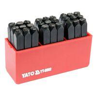 YATO Znacznik literowy, 27 części, 6 mm