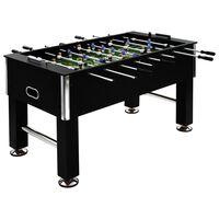 vidaXL Stół do gry w piłkarzyki, stal, 60 kg, 140x74,5x87,5 cm, czarny