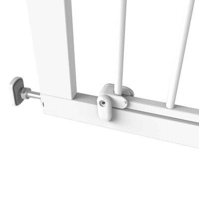 Noma Bramka zabezpieczająca Easy Pressure Fit, 75-82 cm, metal, biała
