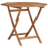 vidaXL Składany stolik ogrodowy, 85x85x76 cm, lite drewno tekowe