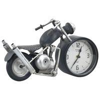 vidaXL Zegar stołowy, antracytowy, 32 x 10,5 x 18 cm, żelazo i MDF
