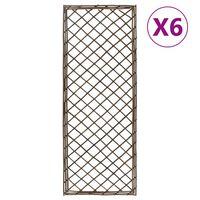 vidaXL Kratki ogrodowe, 6 szt., 30x170 cm, wierzba