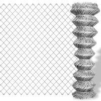 vidaXL Siatka ogrodzeniowa z galwanizowanej stali, 15x1,5 m, srebrna