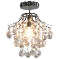 vidaXL Lampa sufitowa z kryształkami i koralikami, srebrna, E14