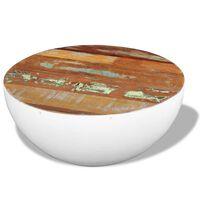 vidaXL Stolik kawowy w kształcie misy, drewno z odzysku, 60x60x30 cm