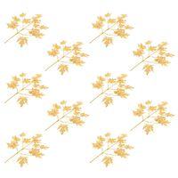 vidaXL Sztuczne gałązki klonu, 10 szt., złote, 75 cm