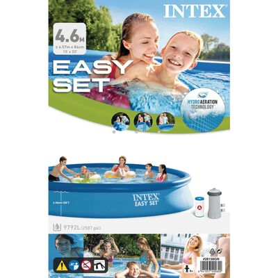 Intex Basen Easy Set z systemem filtracji, 457x84 cm