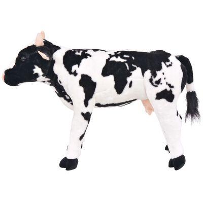 vidaXL Pluszowa krowa, stojąca, czarno-biała, XXL