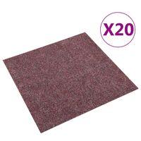 vidaXL Podłogowe płytki dywanowe, 20 szt., 5 m², ciemnoczerwone