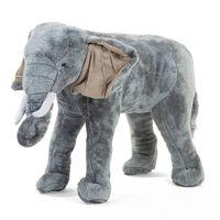 CHILDHOME Stojąca zabawka słoń, 77x33x55 cm, szary